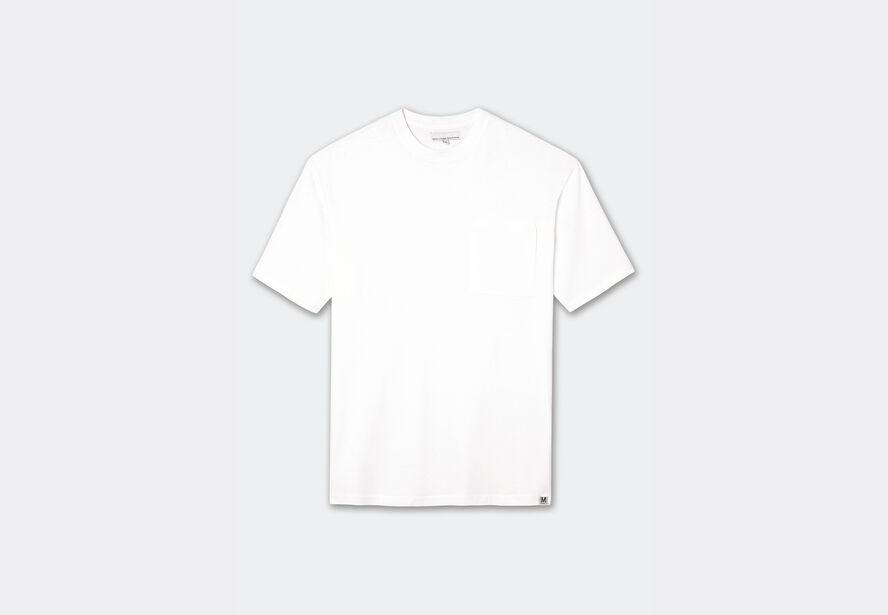 Tee-shirt col rond uni coupe carrée