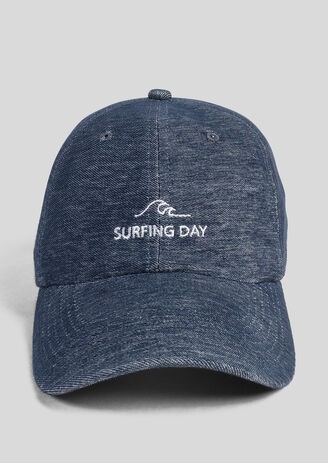 """Casquette denim """"Surfing day"""""""