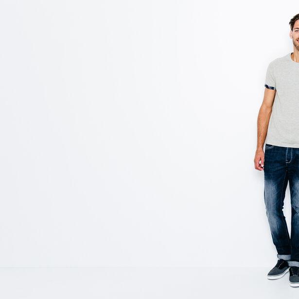 T-shirt col rond avec poche imprimé