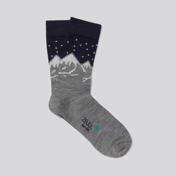 chaussettes unitaires paysage montagnes bleu marine homme jules. Black Bedroom Furniture Sets. Home Design Ideas
