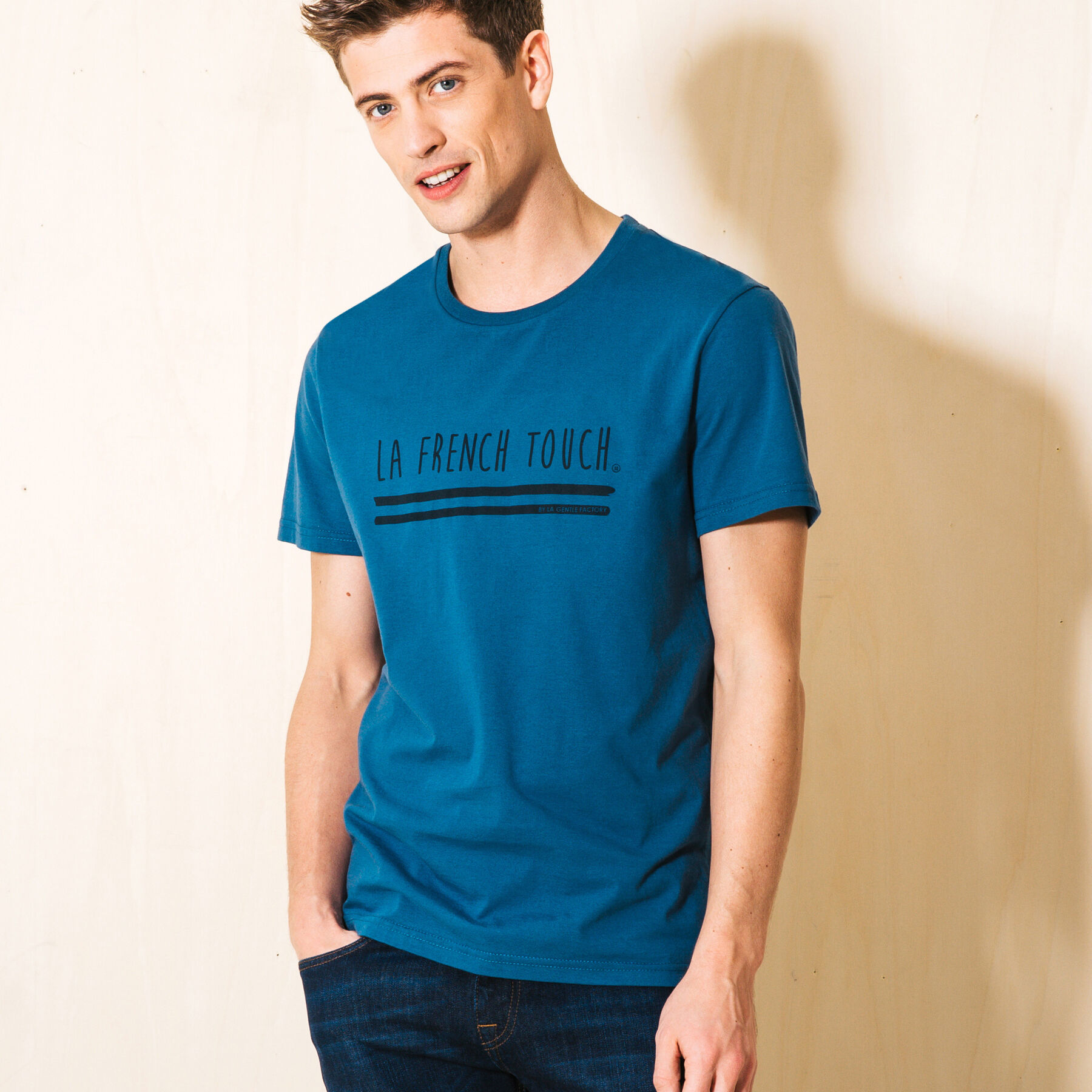 t shirt made in france bleu canard homme jules. Black Bedroom Furniture Sets. Home Design Ideas
