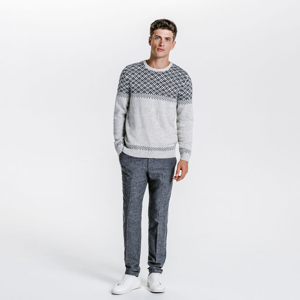 Chino slim tweed