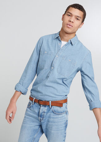 Chemise Chambray enfilage tête