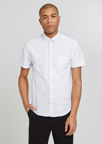 Chemise Manches Courtes Oxford Brodée