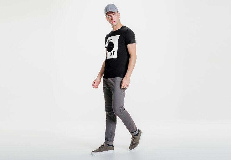 Tee-shirt col rond imprimé MDNT