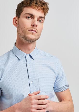 Chemise slim à manches courtes
