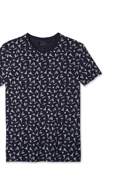 Tee shirt imprimé micro motifs France