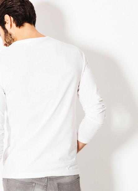 Tee shirt uni imprimé texte