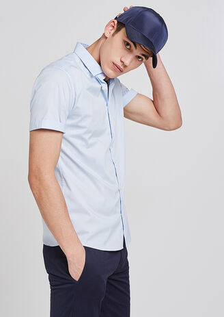 Chemise Manches Courtes Stretch Slim