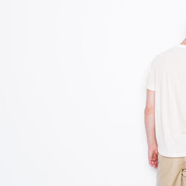 """T-shirt col rond imprimé """"Life"""""""