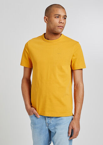 Tee shirt message yellow