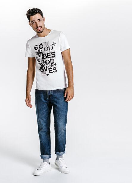 Tee shirt col rond good vibes