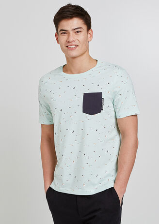 tee shirt imprimé surfeurs