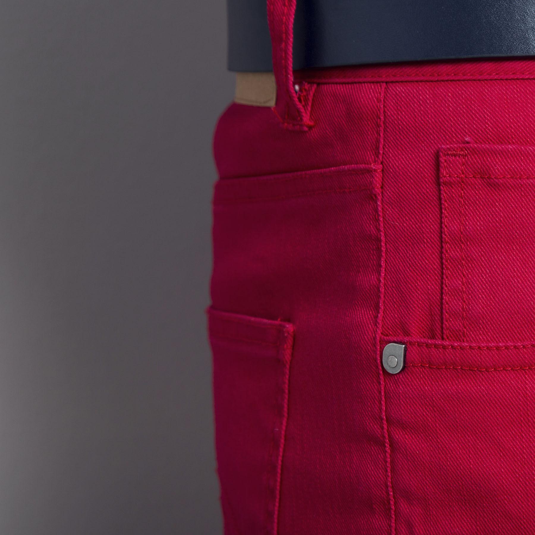 pantalon 5 poches slim rouge homme jules. Black Bedroom Furniture Sets. Home Design Ideas
