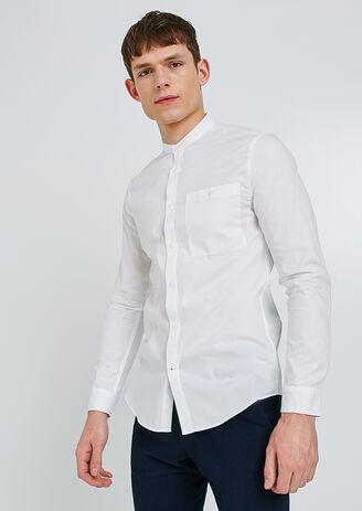 Camicia Regular collo alla coreana