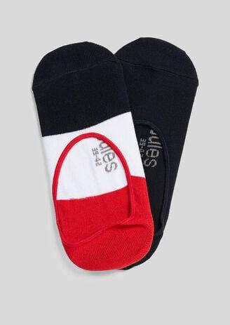 Lot de 2 chaussettes invisibles fantaisies