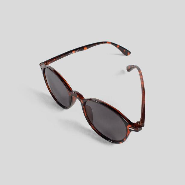 lunettes de soleil ronde caille marron fantaisie homme. Black Bedroom Furniture Sets. Home Design Ideas