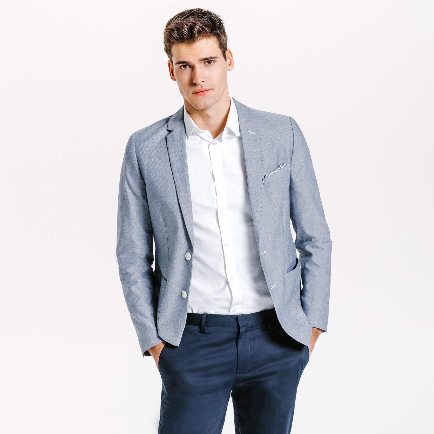 Veste blazer homme bleu clair