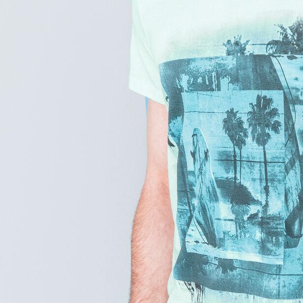 """T-shirt col V imprimé """"surf"""""""