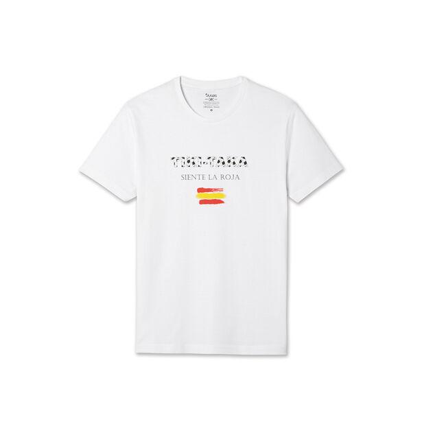 Tee shirt Foot Siente la Roja