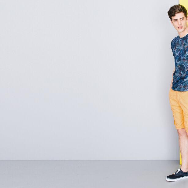 T-shirt col rond imprimé tropical