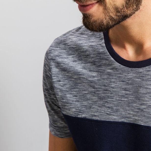 T-shirt col rond bicolore Fabrication Française