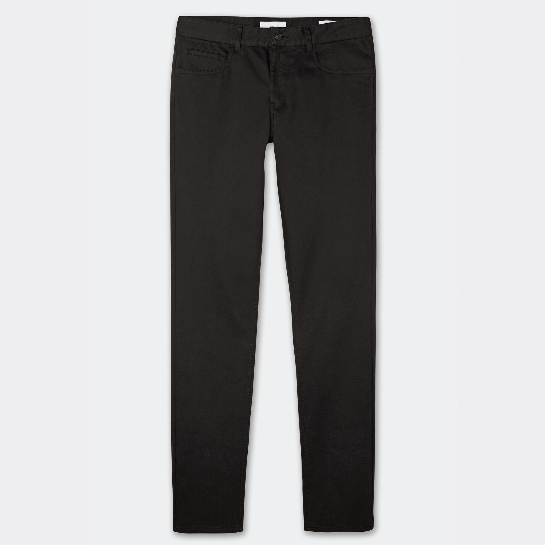 pantalon 5 poches slim noir homme jules. Black Bedroom Furniture Sets. Home Design Ideas
