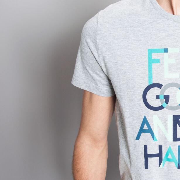 T-shirt fantaisie imprimé coloré