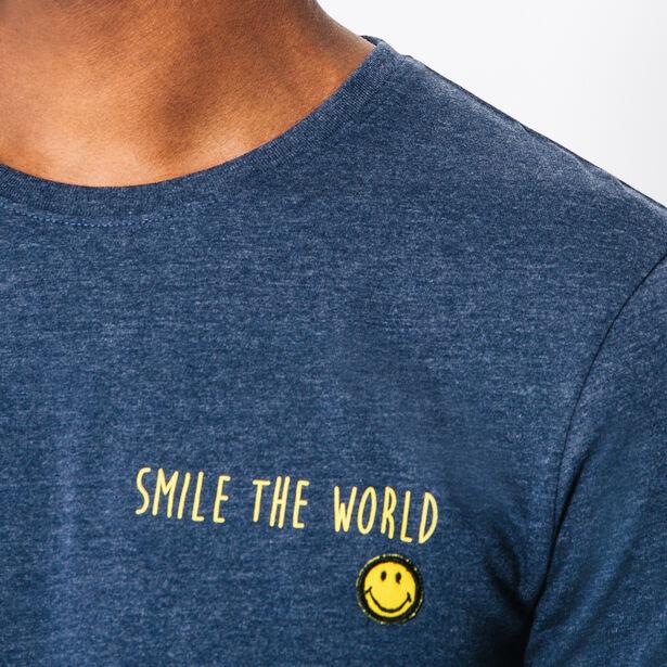 Tee shirt col rond badge smiley