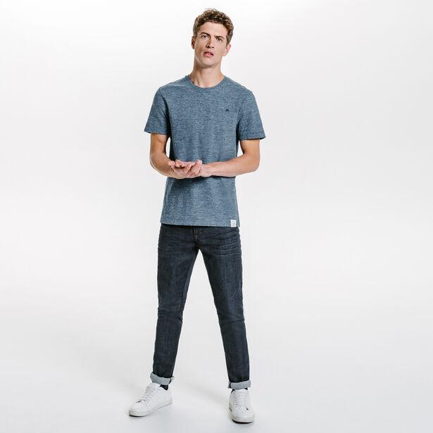 Tee-shirt col rond moucheté