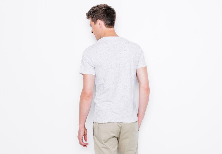 T-shirt col rond imprimé texte