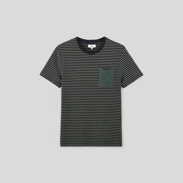 Tee shirt col rond à rayures