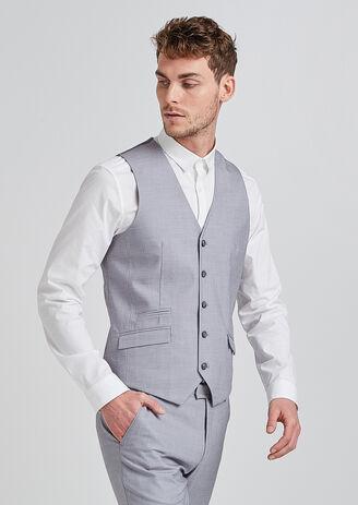Gilet de costume extra slim gris clair