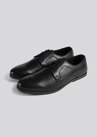 Chaussures urbaines cuir lisse semelle fine
