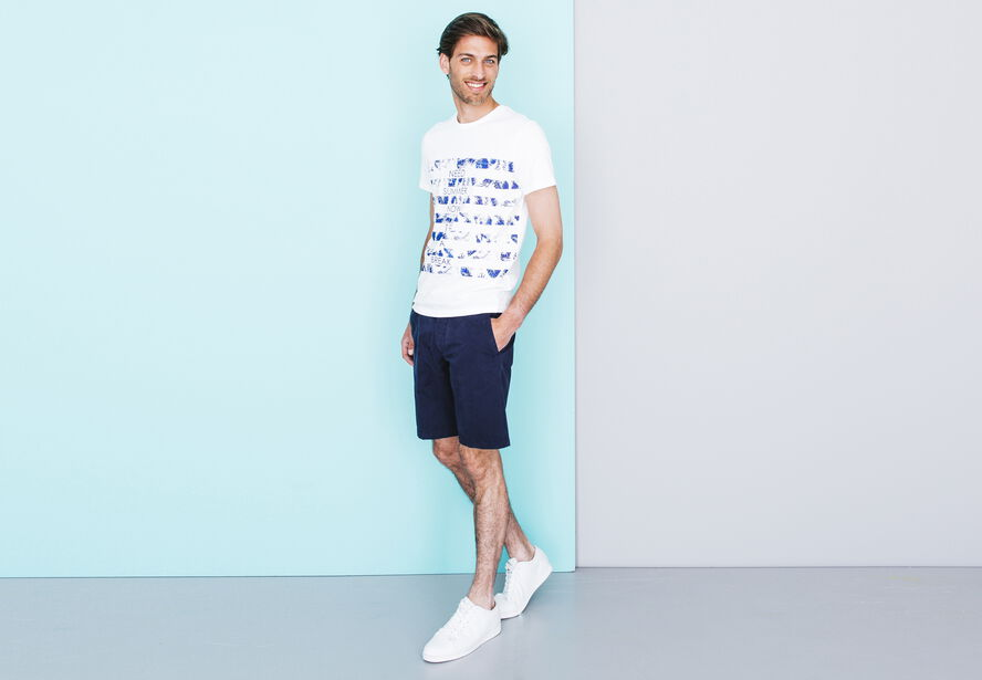 T-shirt col rond rayures fantaisies