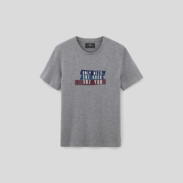 Tee shirt col rond imprimé rock
