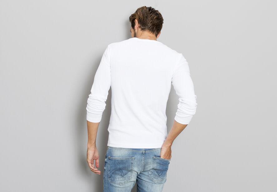 T-shirt col boutonné