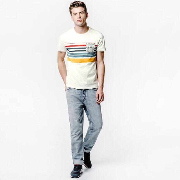 Tee shirt bandes couleur