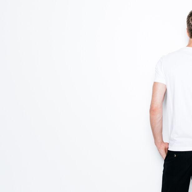 T-shirt col rond imprimé urbain