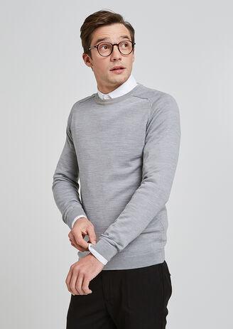 Pull col rond laine mérinos