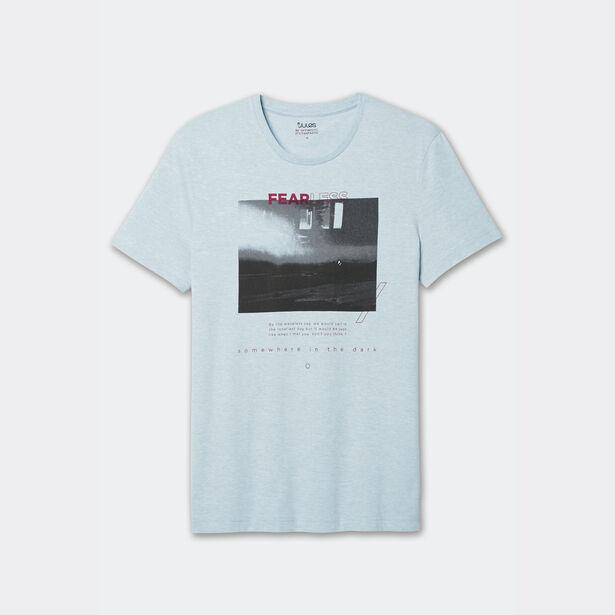 Tee-shirt col rond photoprint