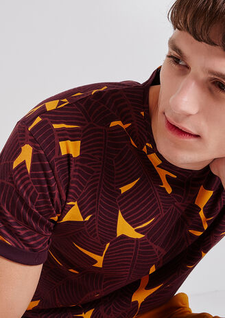 tee shirt imprimé feuillage