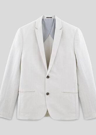 Veste de costume slim coton lin