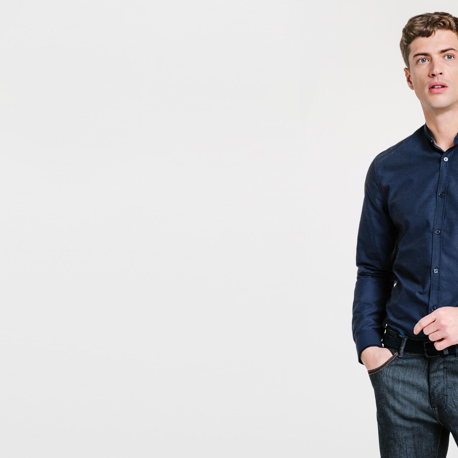 Chemise Col Mao Jules : chemise bleu marine fitted col mao bleu marine fantaisie homme jules ~ Farleysfitness.com Idées de Décoration