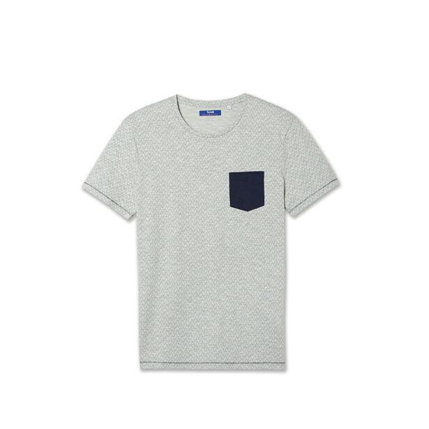 Tee shirt col rond imprimé allover
