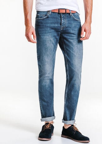 Jean straight stone selvedge