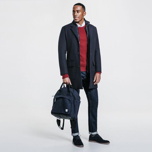 Manteau long avec parmenture