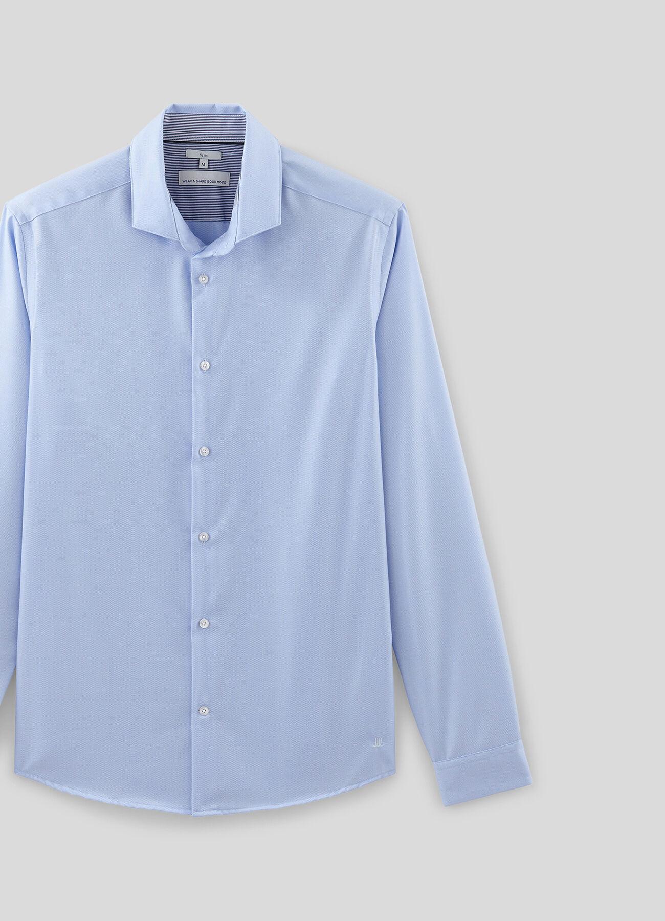 chemise slim repassage facile bleu ciel homme jules. Black Bedroom Furniture Sets. Home Design Ideas