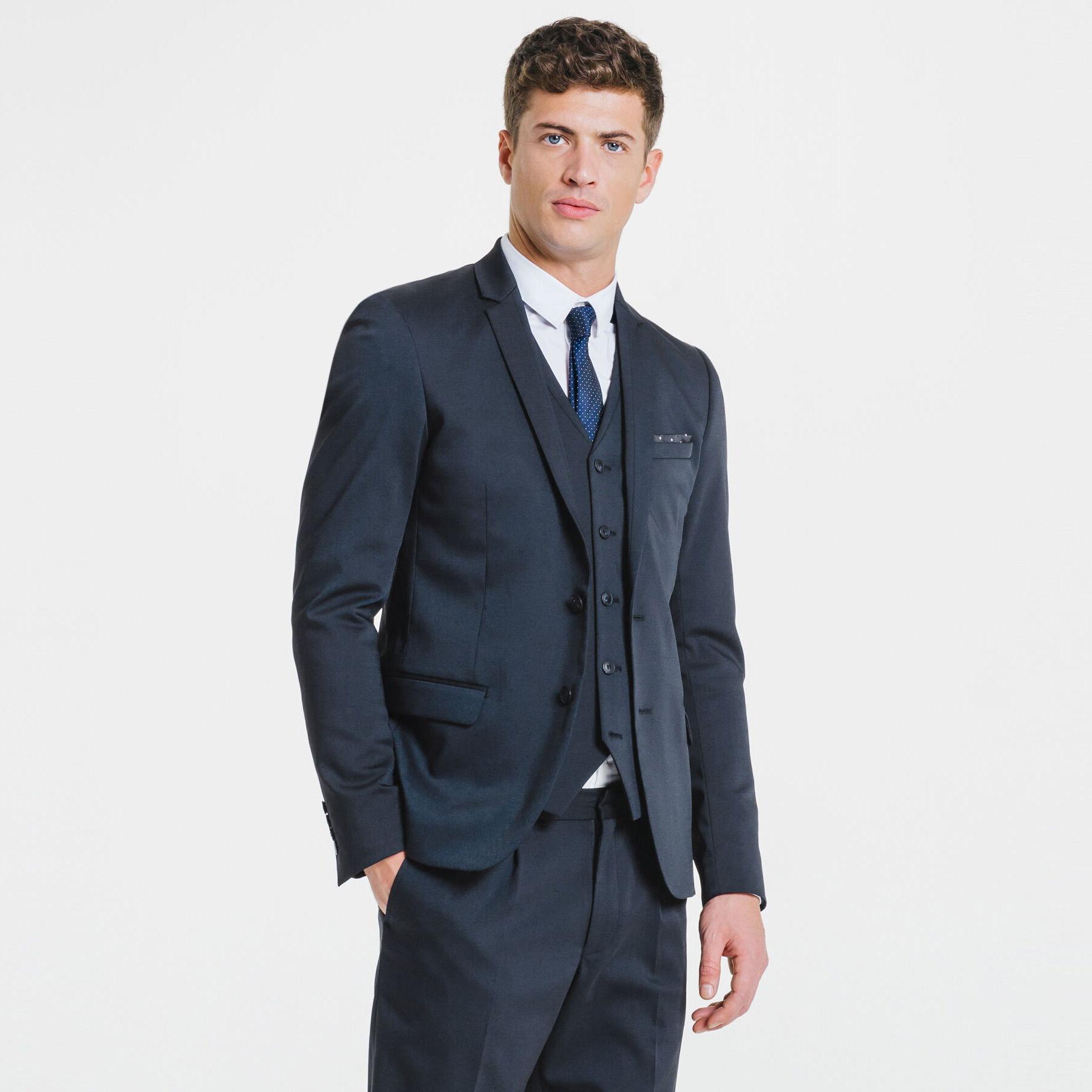 veste de costume slim haut de gamme bleu marine homme jules. Black Bedroom Furniture Sets. Home Design Ideas