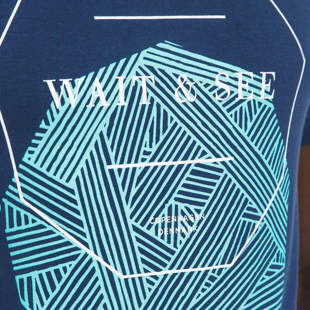 "Tee shirt col rond imprimé ""Wait and See"""